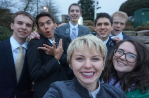 From Left: Elder Gappmayer, Elder MacArthur, Elder Mantle, Sister Gardner, Elder Erickson, Elder McDaniel, Sister Burgess