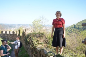 At Castle Ruins in Graz