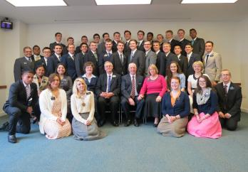 All of the Missionaries in The England MTC on March 30, 2015