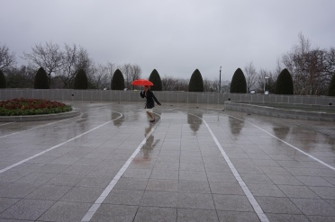 Singing and Dancing in the Rain.-  Sometimes Elder Erickson will sing the Singing in the Rain Songs with me.
