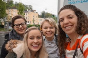 Sisters in Salzburg: L to R- Sister Abram, Sister Fenton, Sister Gardner, Sister Poll
