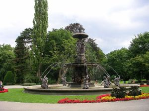 The fountain in Stadtpark.