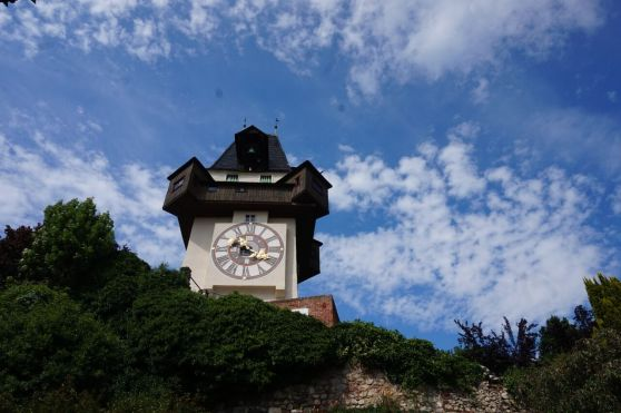 Clock Tower at the Schlossberg in Graz.  Our  P-day adventure.