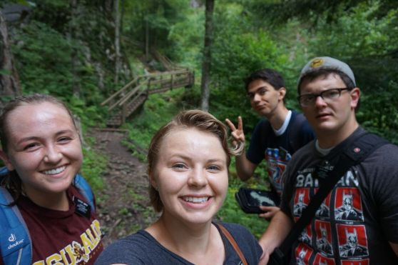 Mixnitz Hike: Sister Smith, Sis G, Elder McArthur and Elder Wise