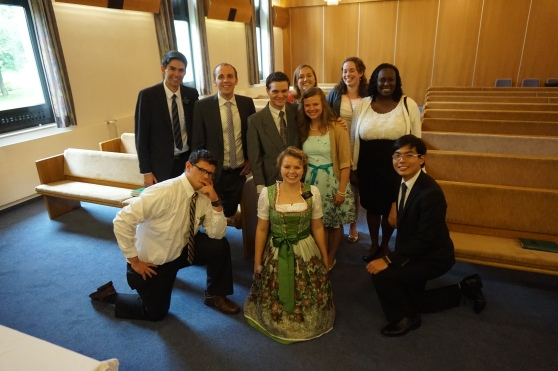 Visiting opera and music friends to the ward. Elder Wise, Elder McArthur and Sister Smith are in this group as well.