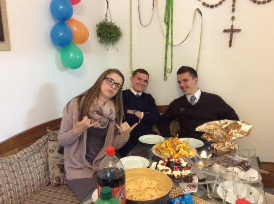 A Birthday party we were invited to.  Sister Pratt, Elder Chilcutt and Elder Call