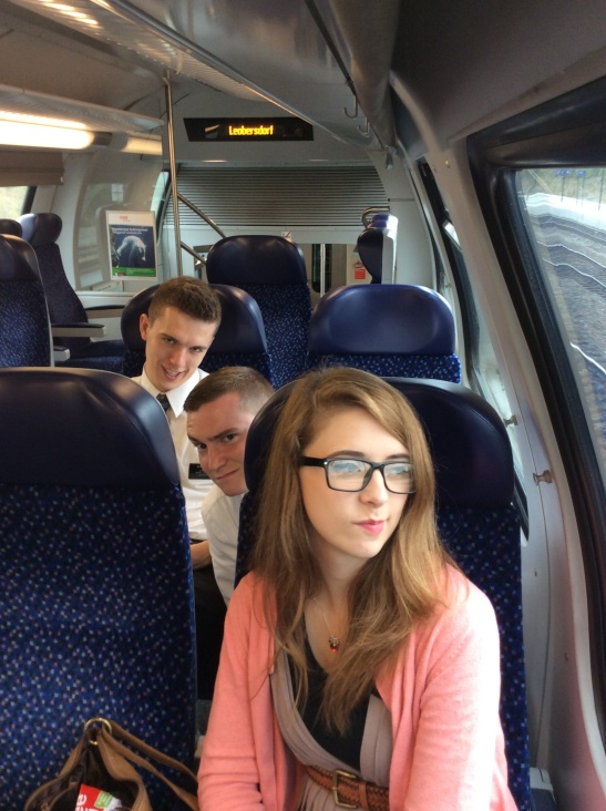 My WIener Neustadt Family Elder Call, Elder Chilcutt, Sister Pratt on the train.
