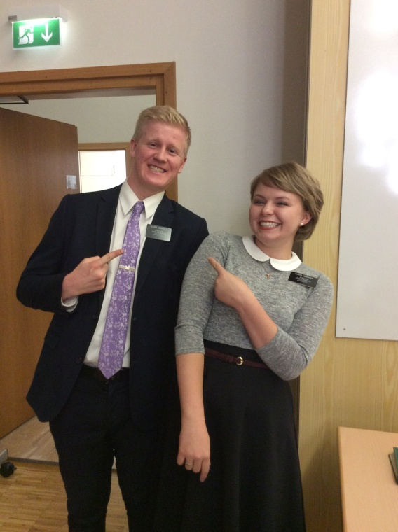 Hey, It's even Elder Hadfield a friend from my very own high School German class.
