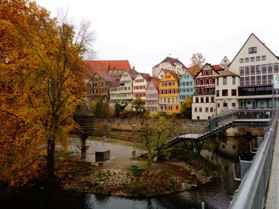 Tubingen, Germany.  Love the colorful building.