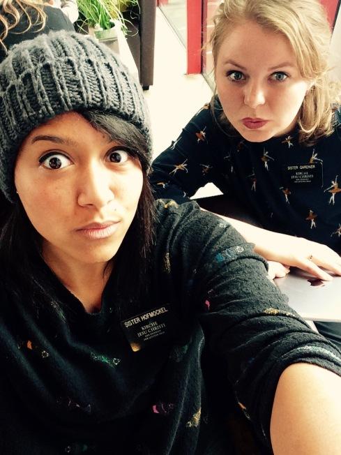 sisters in a selfie